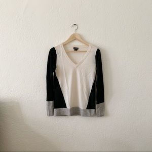 Club Monaco light wool colour block sweater
